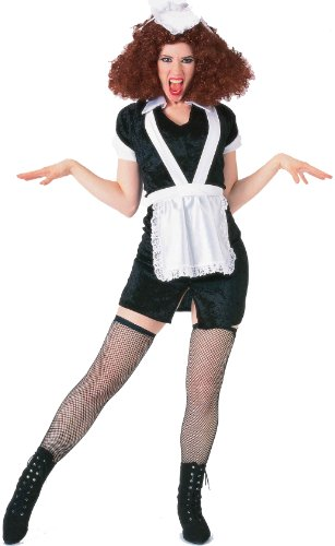 Forum The Rocky Horror Picture Show Magenta Complete Costume, Black/White, Standard (Magenta Apparel)