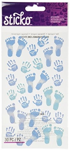 Sticko Pastel Baby Boy Prints Stickers