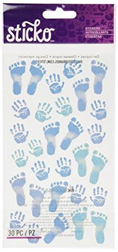 Sticko Pastel Baby Boy Prints Stickers Baby Boy Embellishment