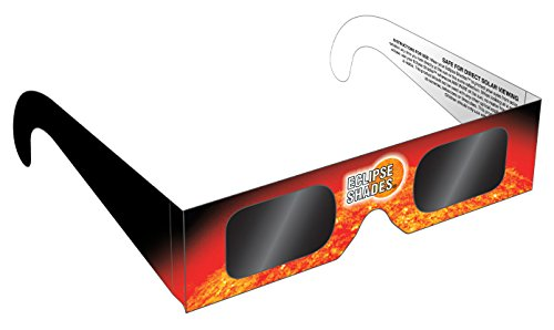 Eclipse Glasses - CE and ISO Certified Safe Solar Eclipse Shades - Viewer and filters (5 Pack) - Made in USA