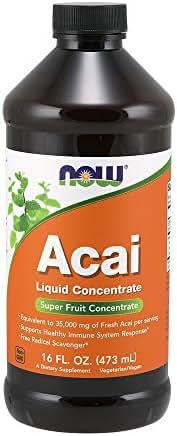 Now Supplements, Acai Liquid, Super Fruit Concentrate, 16-Ounce