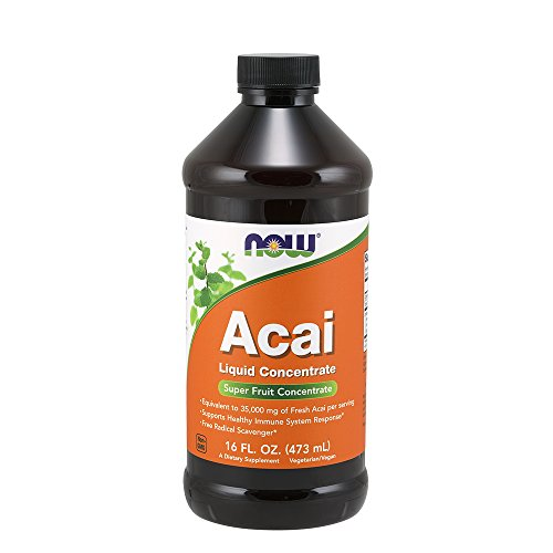 Acai Berry Concentrate (NOW Acai Liquid Concentrate, 16-Ounce)