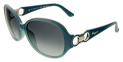 Salvatore Ferragamo Glasses (Salvatore Ferragamo Sunglasses SF601S 446 Turquoise Gradient 59 16 125)