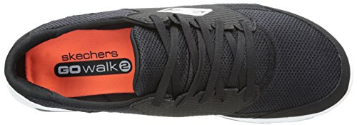 Skechers Men's Go 2 Stance Walking Shoe,Black/White,11 M US