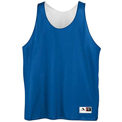 Augusta Sportswear Men's Reversible Mini mesh League Tank, Royal/White, X-Large