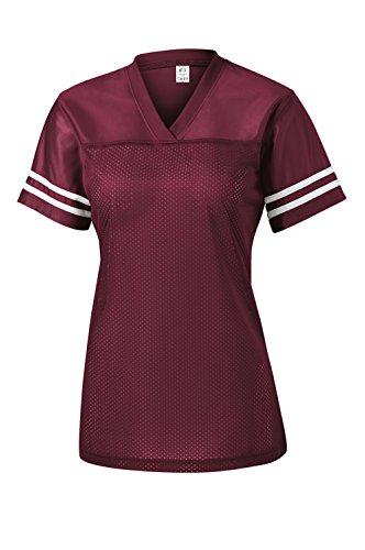 Gravity Threads Womens Replica Jersey Shirt - Maroon/White - ()