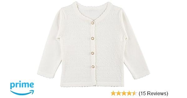 539ddeccd753 Amazon.com  Lilax Baby Girls  Round Neck Button Down Soft Knit ...