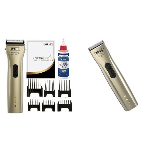 Wahl Premium Pet / Dog Cordless Grooming Combi Kit Super Groom Clipper and...