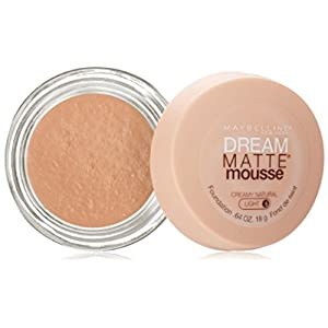 Maybelline Dream Matte Mousse Foundation, Creamy Natural, Light [5], 0.64 oz