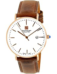 Steinhausen Womens S0621 Classic Burgdorf Swiss Quartz Stainless Steel Watch With Brown Leather Band (RG/White...