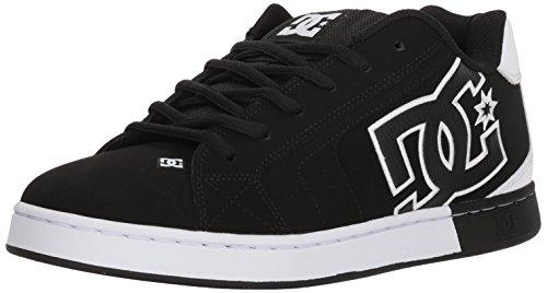 Dc Mens Net Se Skate Shoe  Black Black White  10 5D D Us