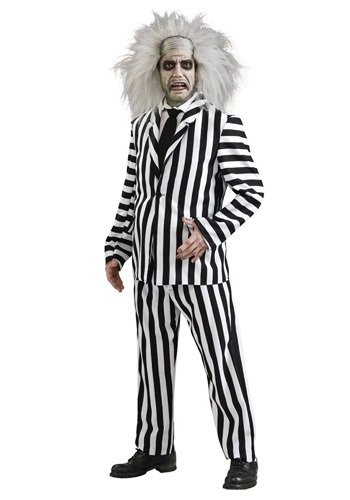[Rubies Costume Co. Inc boys Deluxe Beetlejuice Costume Medium] (Beetle Juice Wig)