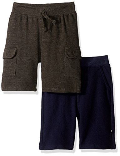 Knit Boys Shorts (Lee Toddler Boys' 2 Pack Knit Pullover, Navy, 2T)