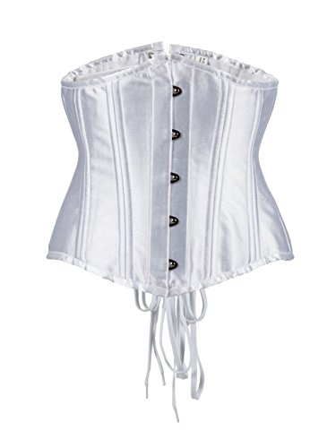26 Slimming ZAMME Underbust acero Vintage Mujeres Duty Heavy Blanco Corset Deshuesado Shaper aw5Fw6xqz