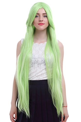 Nuoqi Anime C.C Queen Grass Green Straight Cosplay Wigs