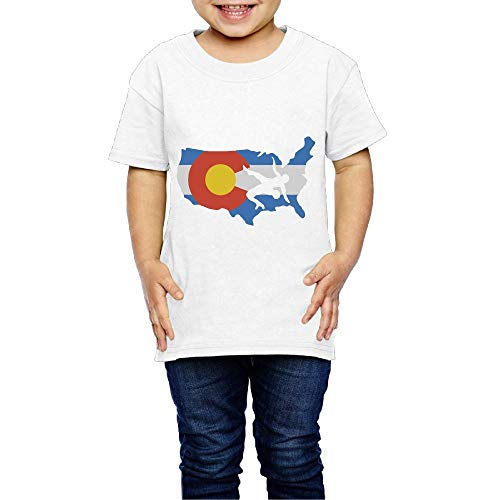 XYMYFC-E Colorado USA Wrestling 2-6 Years Old Children Short-Sleeved Tshirt by XYMYFC-E