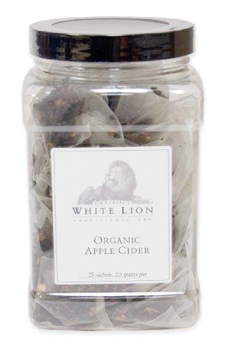 (Organic Apple Cider Fine Herbal Tea, 25 Sachets, White Lion Tea)
