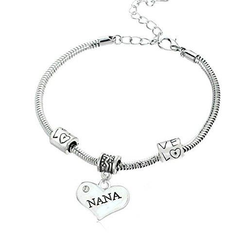 Best Nana Heart Charm - 1