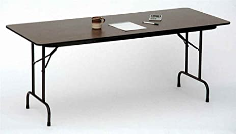 Exceptionnel Melamine Standard Fixed Height Folding Table (18 In. X 48 In./Black