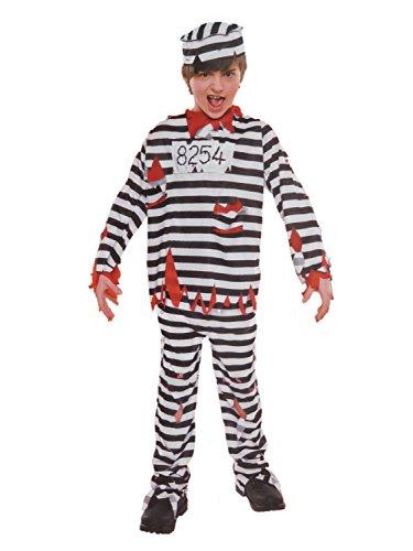 Boys Zombie Prisoner Halloween Costume Top Pants & Hat]()