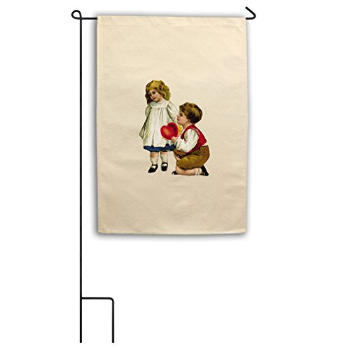 "Style in Print Canvas Yard Garden Flag 18""X27"" Kids In Love"