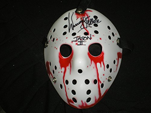 WARRINGTON GILLETTE Signed Bloody Hockey Mask Jason Voorhees Friday the 13th Part 2 Autograph