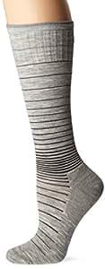 Sockwell Womens Circulator Travel Compression Therapy Socks (Light Grey, S/M)