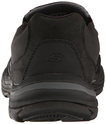 Skechers USA Hombre Elment Brencen Slip-on Loafer, Negro