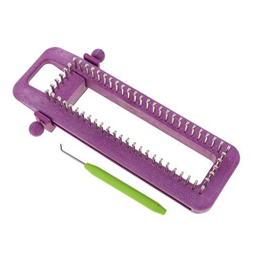 Prettyia 編み機のキット 織り機 ニット かぎ針編みフック マフラー 靴下 スカーフ 帽子 編みツール 調節可能