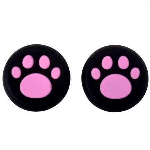 Analog Silicone Thumb Stick Grips Cap Joystick ThumbSticks Caps Cover for PS4 PS3 Xbox One Xbox 360 PS2 Game Controllers (2 x Pink Cat Dog Paw)