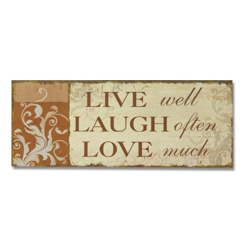 Adeco SP0155 Decorative Wood Wall Hanging Sign Plaque, for sale  Delivered anywhere in USA