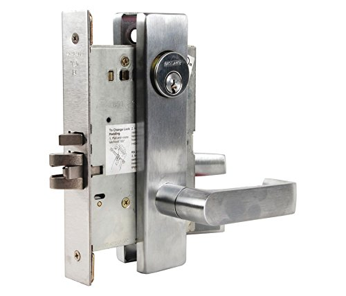 Schlage L9050P 06L 626 C123 Keyway Series L Grade 1 Mortise Lock, Office Function, C123 Keyway, 06L Design, Satin Chrome Finish