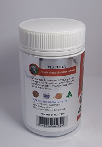 Costar Sheep Placenta 15000mg 100 Capsules Australian Made Baby Sheep Essential by Costar (Image #5)