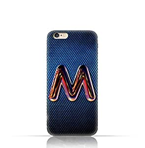 Apple iPhone 7 TPU Silicone Case with Chrome Night Letter M Design