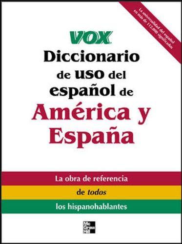 Vox Diccionario de uso del espanol de America y Espana VOX ...
