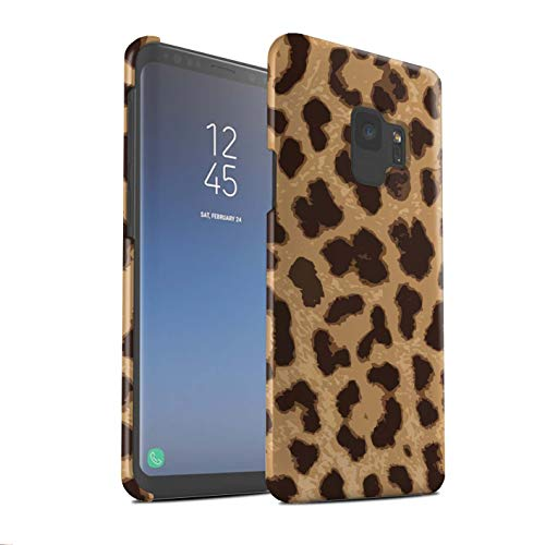 eSwish Matte Hard Back Snap-On Phone Case for Samsung Galaxy S9/G960 / Leopard/Cheetah Design/Fashion Animal Print Pattern Collection
