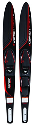 O'Brien Celebrity Combo Water Skis with x-7 Bindings, Red, (Water Ski)