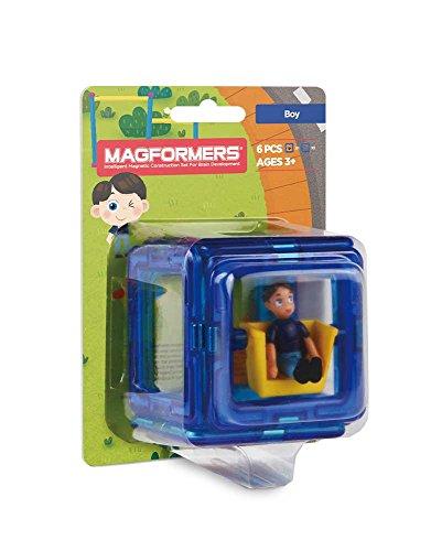 Magformers Figure Plus Boy (6 Piece) Magnetic    Building      Blocks, Educational  Magnetic    Tiles Kit , Magnetic    Construction  STEM Toy Set