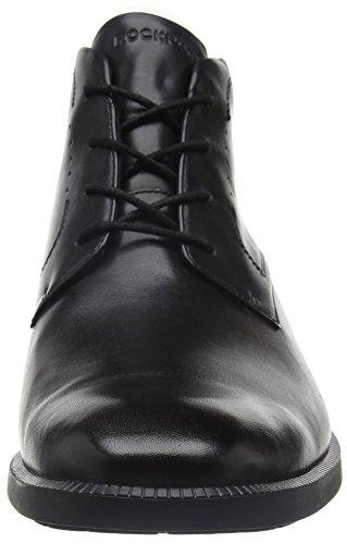 Rockport Dressports Modern Chukka, Botines Hombre Negro (Black Leather)