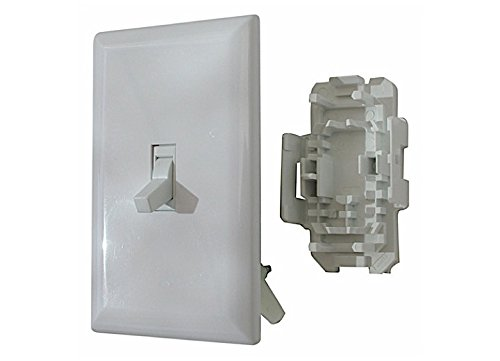 Diamond Group (WDS151WT White Speed Box Toggle Switch with Cover