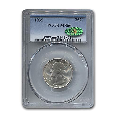 1935 Washington Quarter MS-66 PCGS CAC Quarter MS-66 PCGS