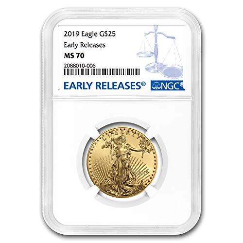 2019 1/2 oz Gold American Eagle MS-70 NGC (Early Releases) 1/2 OZ MS-70 NGC