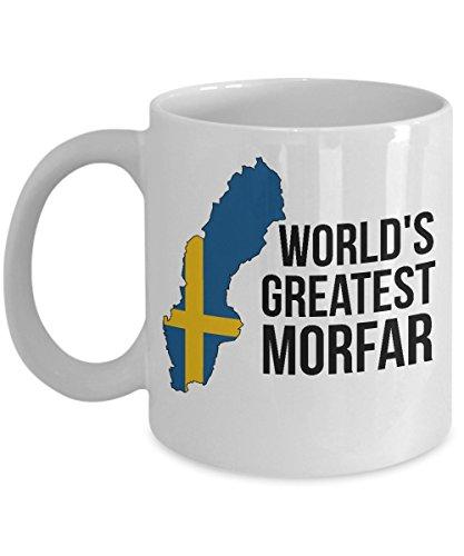 Sweden Coffee Mug - Novelty Morfar Swedish Flag Tea Cup For Men - Best Birthday & Christmas Gift For Grandfathers With Scandinavian Heritage Pride - Proud Nordic Viking Lover Accessories