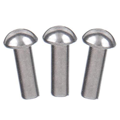 3//16 X 5//16 X 5//16 Oval Head SEMI-Tubular Steel Rivets ZINC Plated/_1000 PCS Box