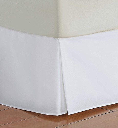Alluring Linen Luxury 600 Thread Count 1-Pieces Split Corner Bed Skirt 26 Inch Drop Length 100% Natural Cotton, Fade Resistan (White Solid, Full 54x75) (Short Alluring)