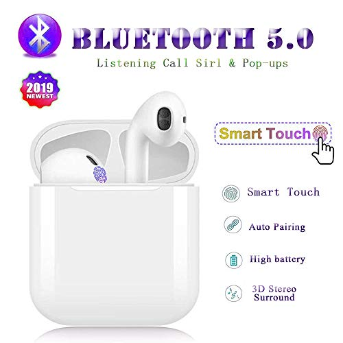 Bluetooth 5.0 Headphones Wireless Earbuds Bluetooth Headset 3D Stereo IPX5 Waterproof Pop-up Window for Mobile Phone iOS Android Android Smart Phone-T