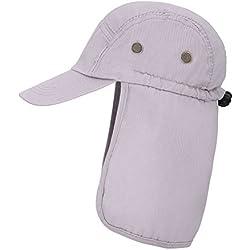 EPYA Outdoors UV Sun Protective Full Coverage Safari Hat w/Neck Flap Cap, Light Gray