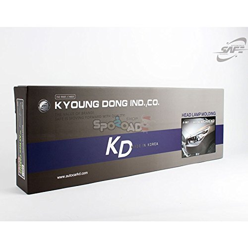 K-967 Chrome Head Lamp Cover Molding for Kia Rondo Carens 2013+