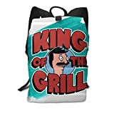 Cheny Bob's Burgers King of The Grill Children's Lightweight Canvas Travel Backpacks School