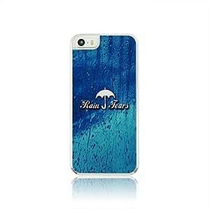 WQQ El agua de lluvia paraguas patrón de las venas de piel del estuche rígido para el iPhone 5/5S PC